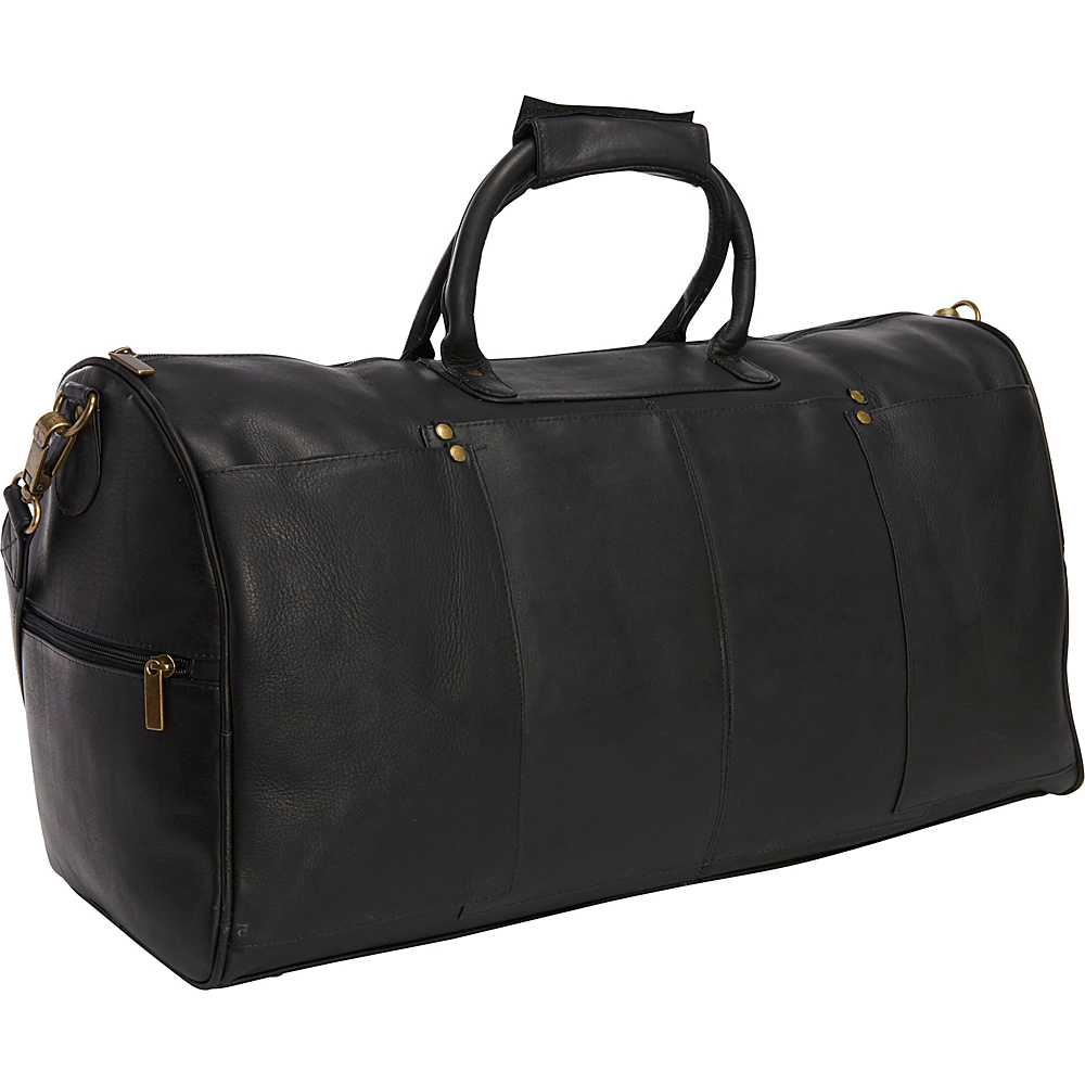Le Donne Leather Tuscan Duffel Black - Le Donne Leather Travel Duffels - Duffels, Travel Duffels