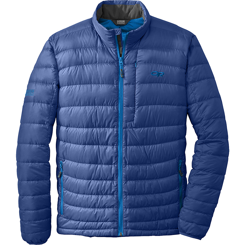 Outdoor Research Mens Transcendent Sweater S - Baltic/Glacier - Outdoor Research Mens Apparel - Apparel & Footwear, Men's Apparel