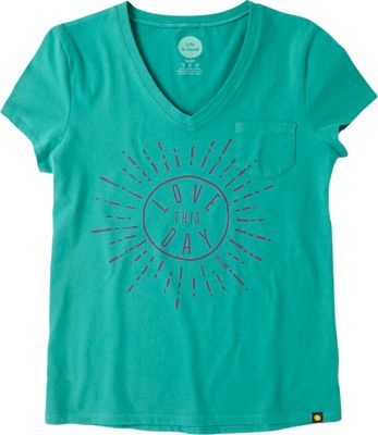 Life is good Womens Pocket Sleep Tee Teal Blue - Small - Life is good Women's Apparel