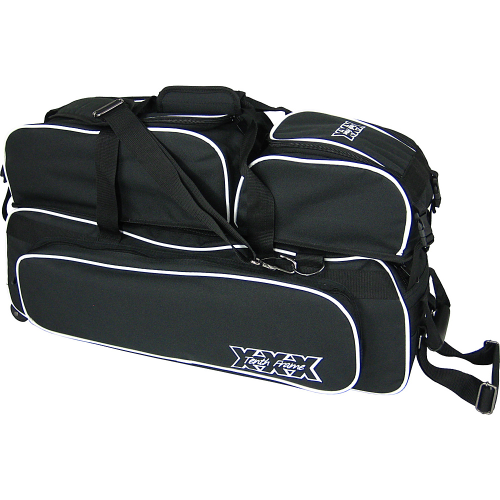Tenth Frame Glide Triple Tote Plus Black - Tenth Frame Bowling Bags