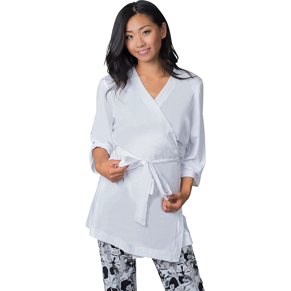 Soybu Stretch Cotton Modal Spa Robe L XL White Soybu Women s Apparel