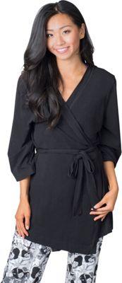 Soybu Stretch Cotton Modal Spa Robe L/XL - Black - Soybu Women's Apparel