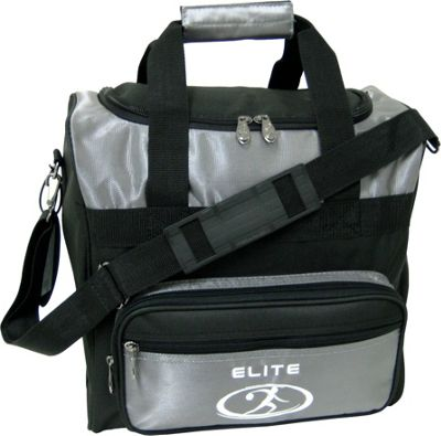 Elite Bowling Impression Bowling Bag Silver/Black - Elite Bowling Bowling Bags