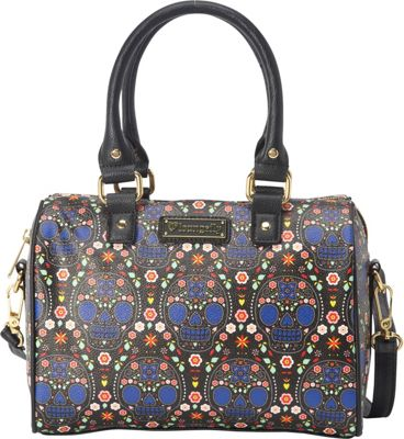 Loungefly Loungefly Bright Sugar Skull Printed Pebble Duffle Blue/Multi - Loungefly Manmade Handbags