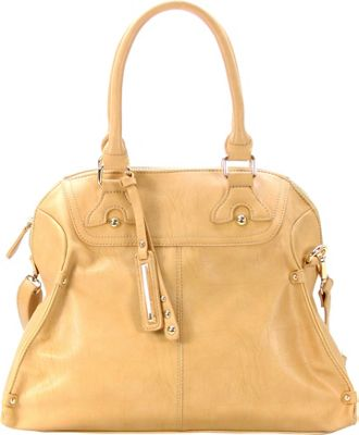 Chasse Wells Boston Elite Tote Beige - Chasse Wells Manmade Handbags