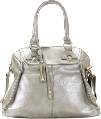 Chasse Wells Boston Elite Tote Pewter - Chasse Wells Manmade Handbags