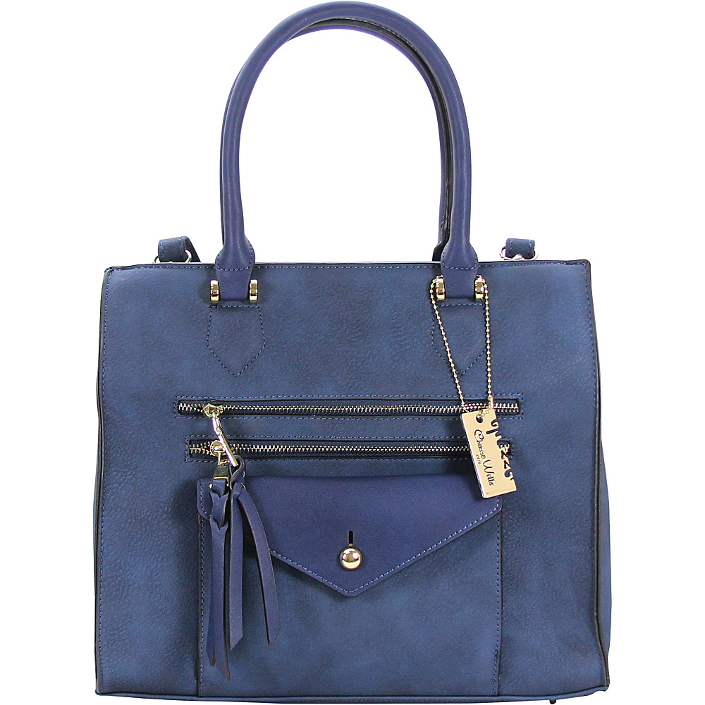 Chasse Wells Access Facile Tote BLUE Chasse Wells Manmade Handbags