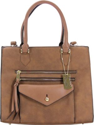 Chasse Wells Access Facile Tote Brown - Chasse Wells Manmade Handbags