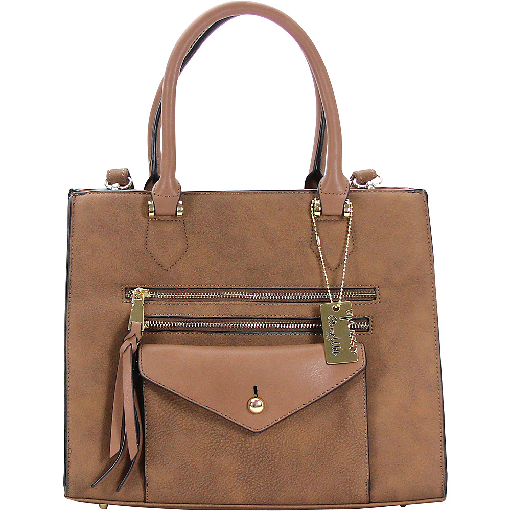Chasse Wells Access Facile Tote Brown Chasse Wells Manmade Handbags