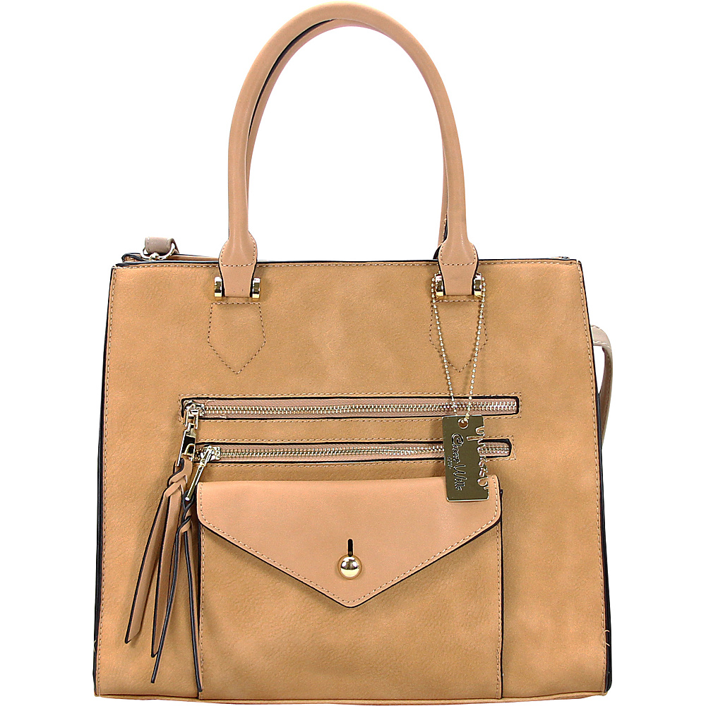 Chasse Wells Access Facile Tote Camel Chasse Wells Manmade Handbags