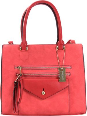 Chasse Wells Access Facile Tote Red - Chasse Wells Manmade Handbags
