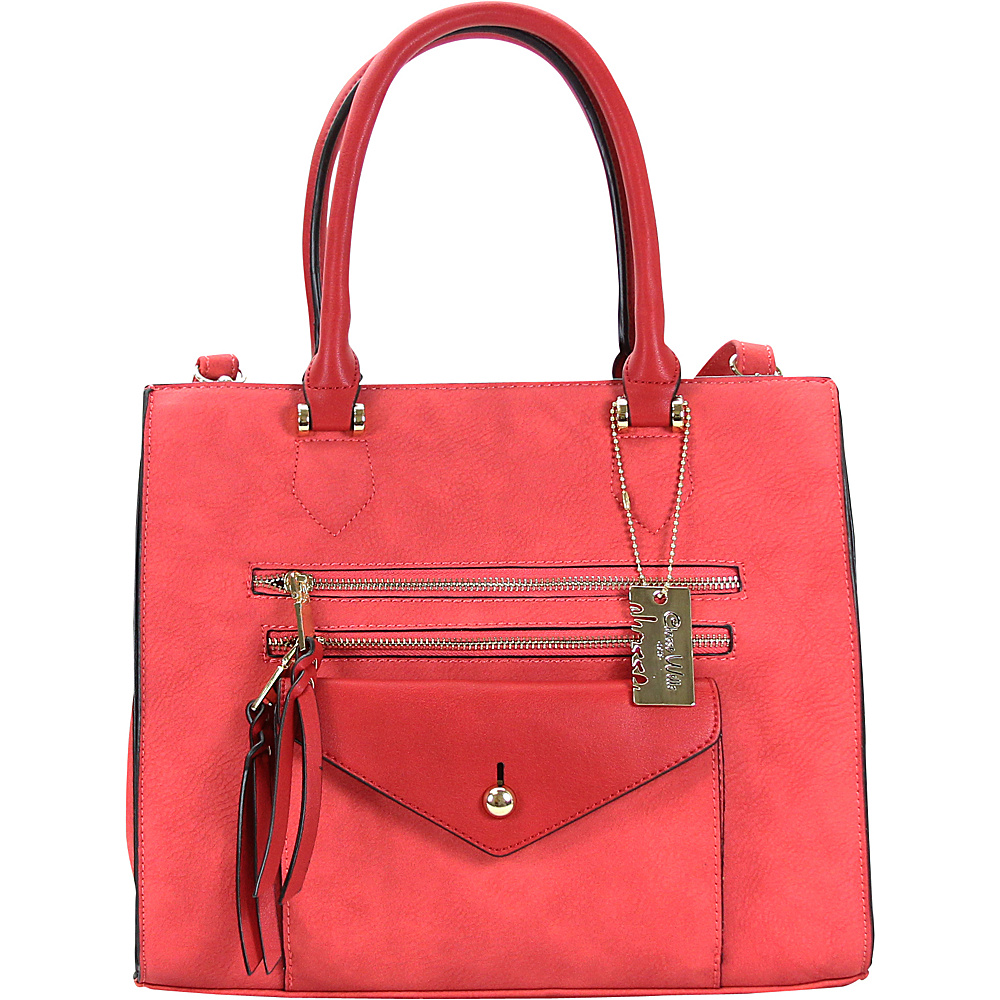 Chasse Wells Access Facile Tote Red Chasse Wells Manmade Handbags