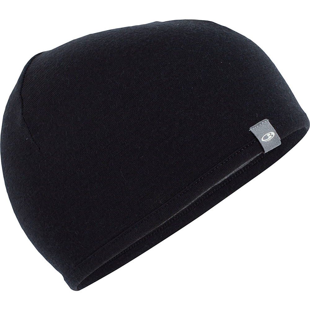Icebreaker Pocket Hat One Size - Black/Gritstone Heather - Icebreaker Hats/Gloves/Scarves - Fashion Accessories, Hats/Gloves/Scarves