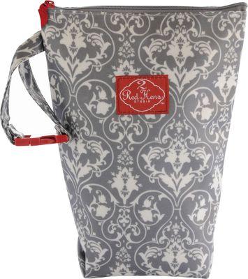 Image of 2 Red Hens Diaper Pack Grey Damask - 2 Red Hens Diaper Bags
