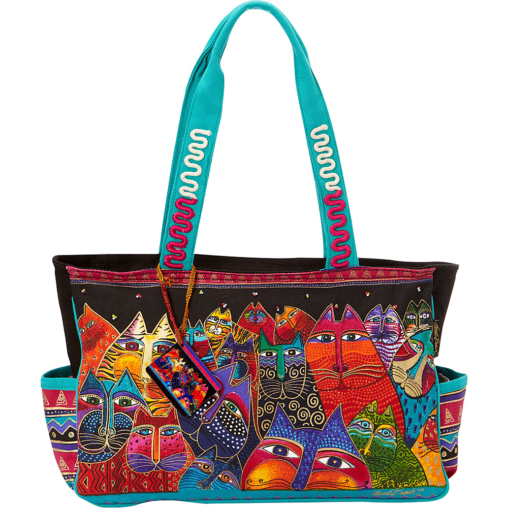 Laurel Burch Fantasticats Medium Tote Fantasticats Laurel Burch Fabric Handbags