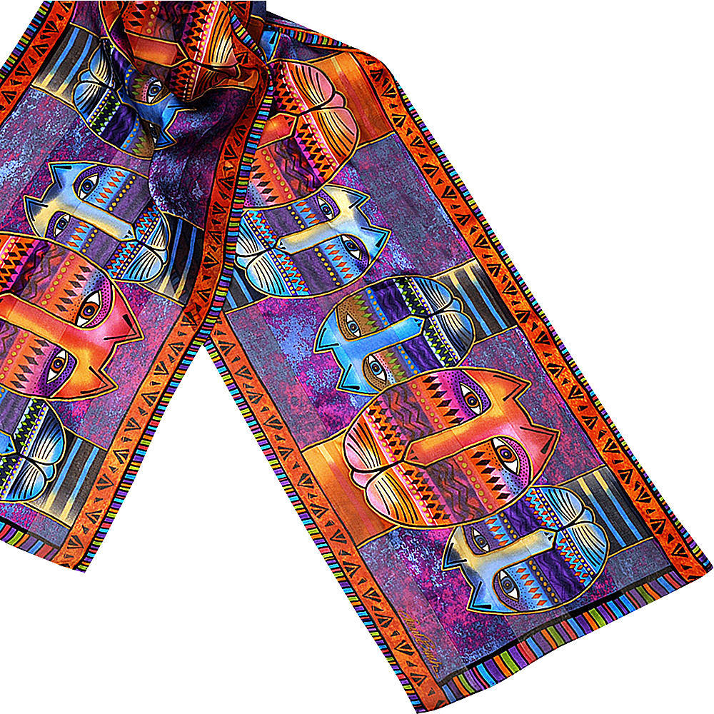 Laurel Burch Silk Scarf Three Amigos Laurel Burch Hats Gloves Scarves