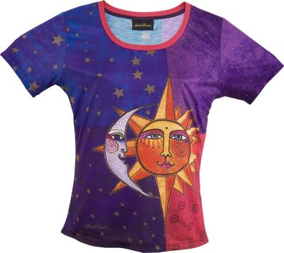 Laurel Burch Sun and Moon T-Shirt XL - Sun And Moon - Laurel Burch Women's Apparel