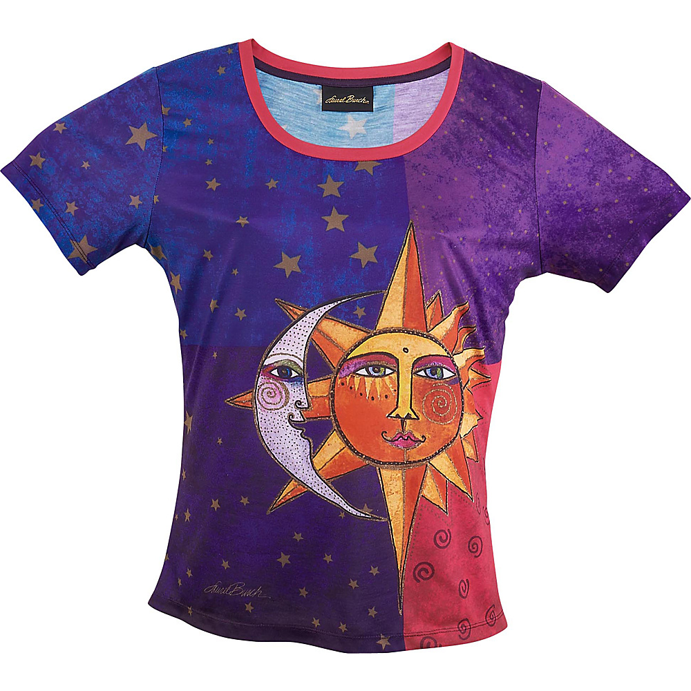Laurel Burch Sun and Moon T Shirt XL Sun And Moon Laurel Burch Women s Apparel