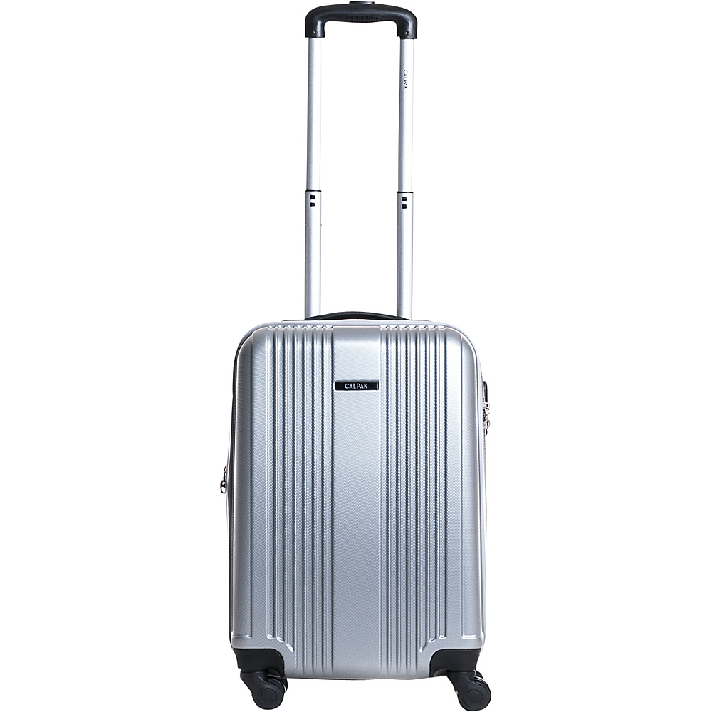 CalPak Torrino II 20 Lightweight Expandable Hardside Carry On Silver CalPak Softside Carry On