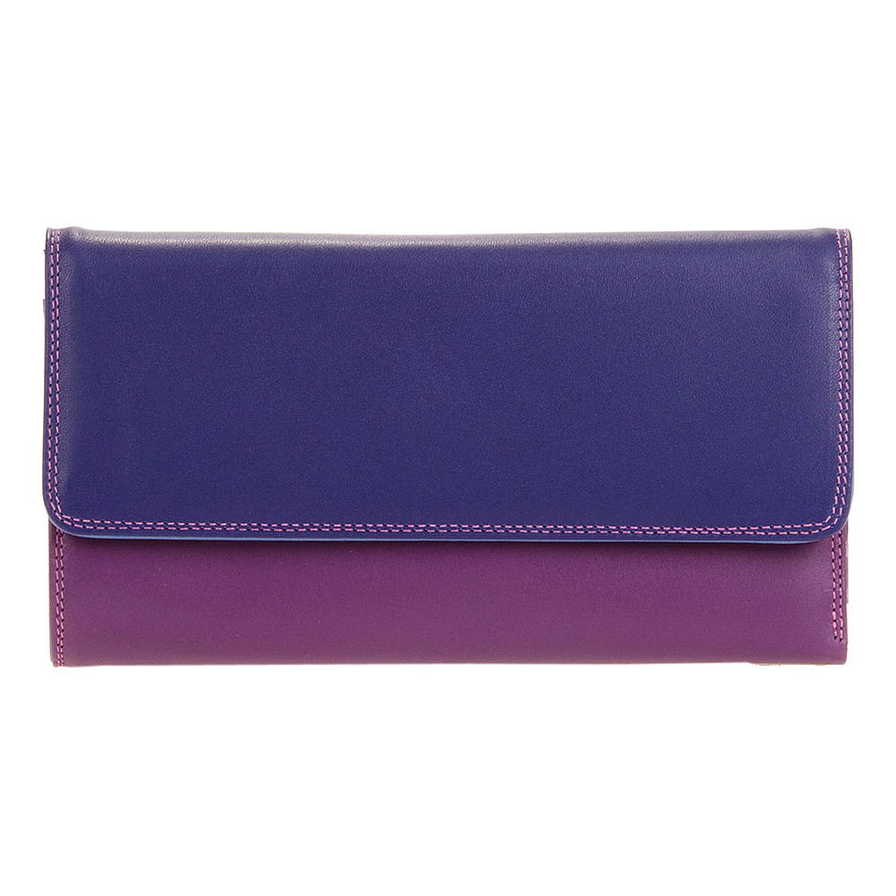 MyWalit Large Trifold with Outer Zip Purse Sweet Violet - MyWalit Ladies Clutch Wallets