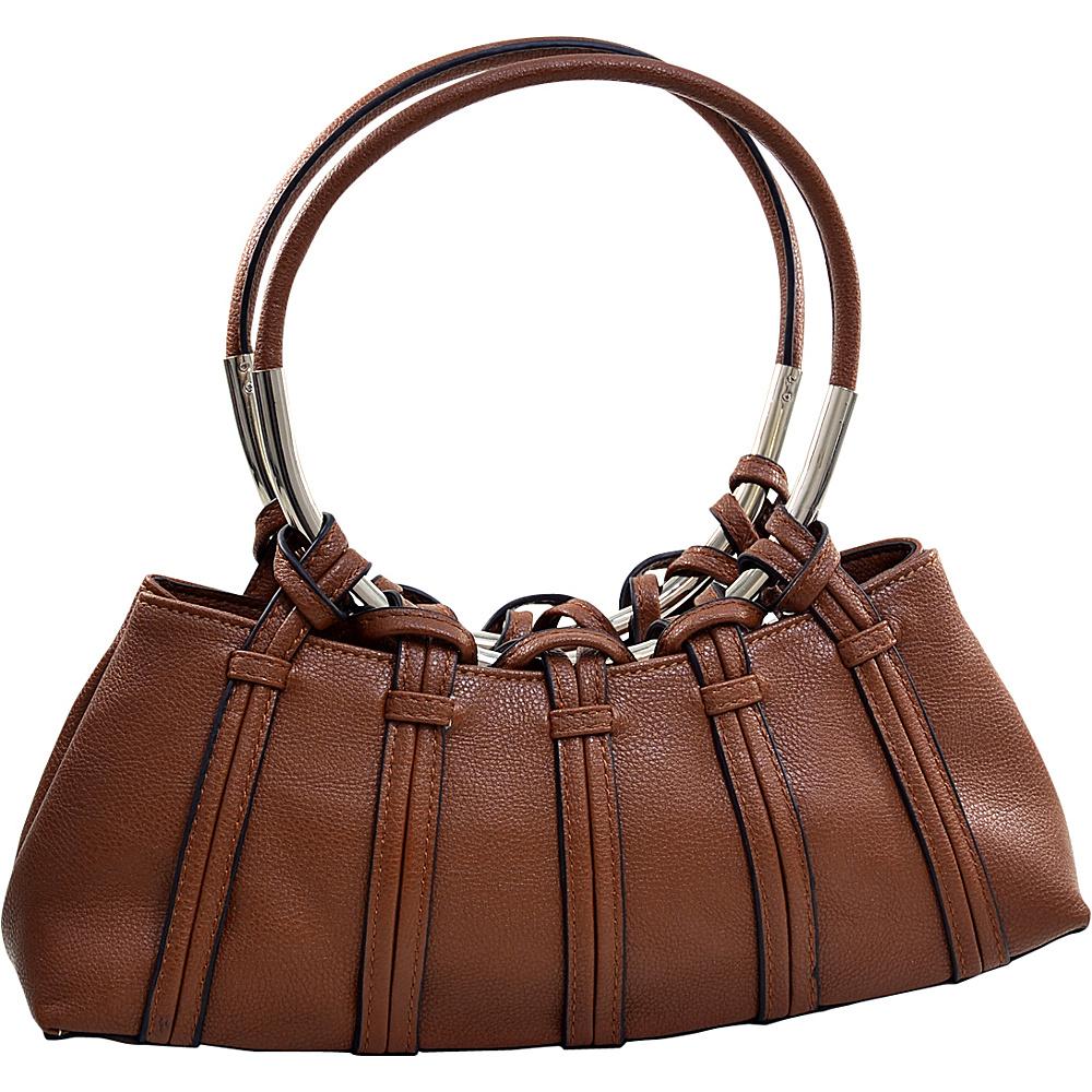 Dasein Dual Ring Strap Shoulder Bag Coffee - Dasein Manmade Handbags - Handbags, Manmade Handbags