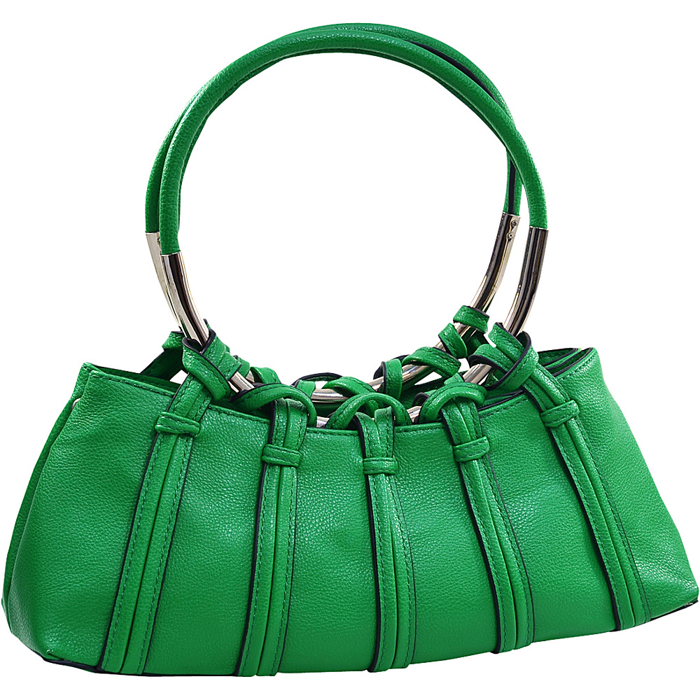 Dasein Dual Ring Strap Shoulder Bag Green - Dasein Manmade Handbags - Handbags, Manmade Handbags