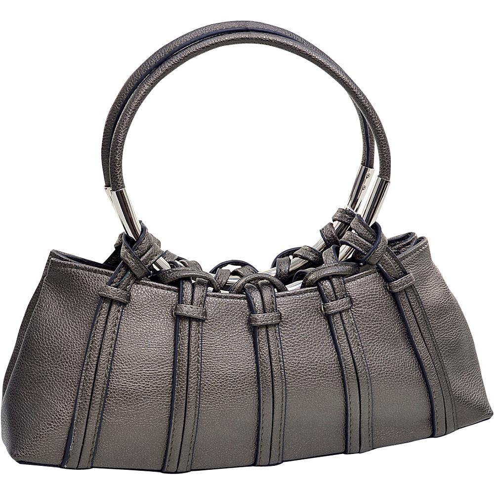 Dasein Dual Ring Strap Shoulder Bag Silver Dasein Manmade Handbags