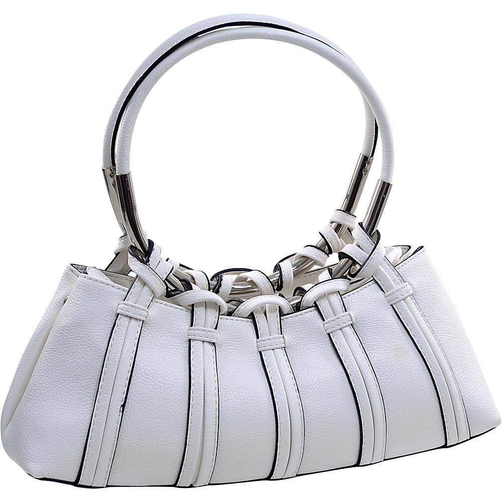 Dasein Dual Ring Strap Shoulder Bag White Dasein Manmade Handbags