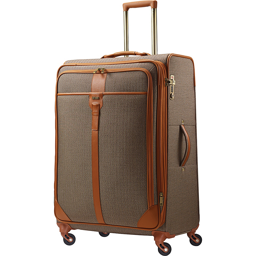 Hartmann Luggage Herringbone Luxe Softside Long Journey Expandable Spinner TerraCotta Herringbone Hartmann Luggage Softside Checked