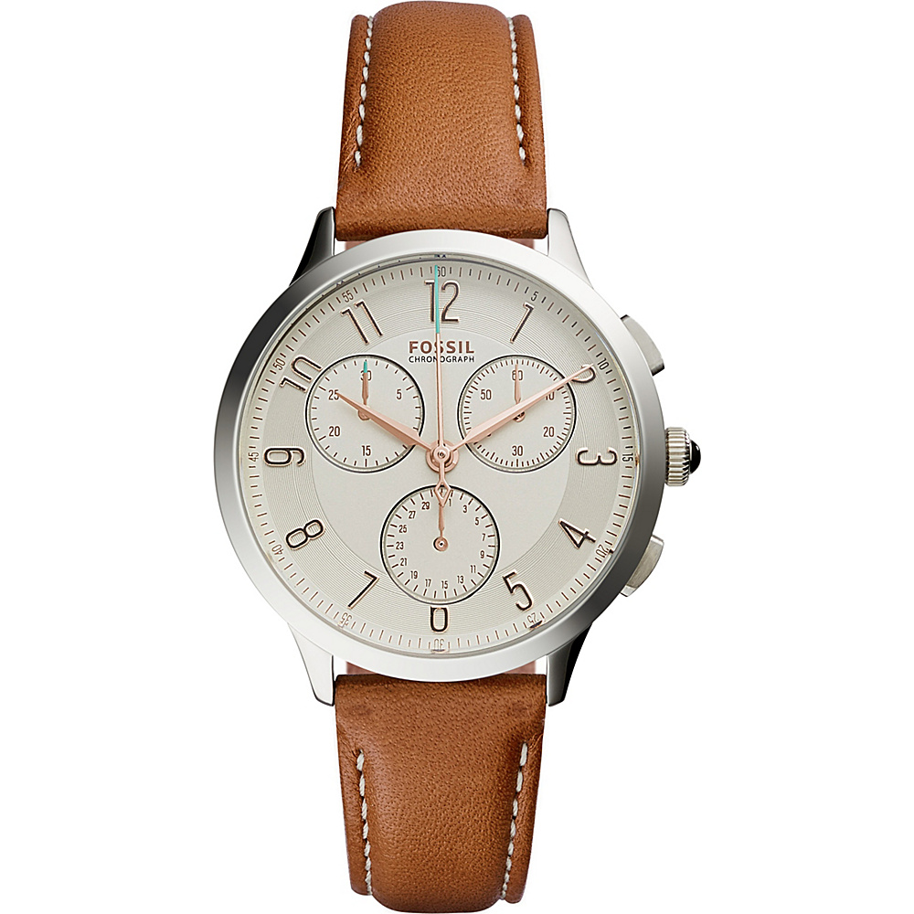 Fossil Abilene Chronograph Leather Watch Brown - Fossil Watches - Fashion Accessories, Watches