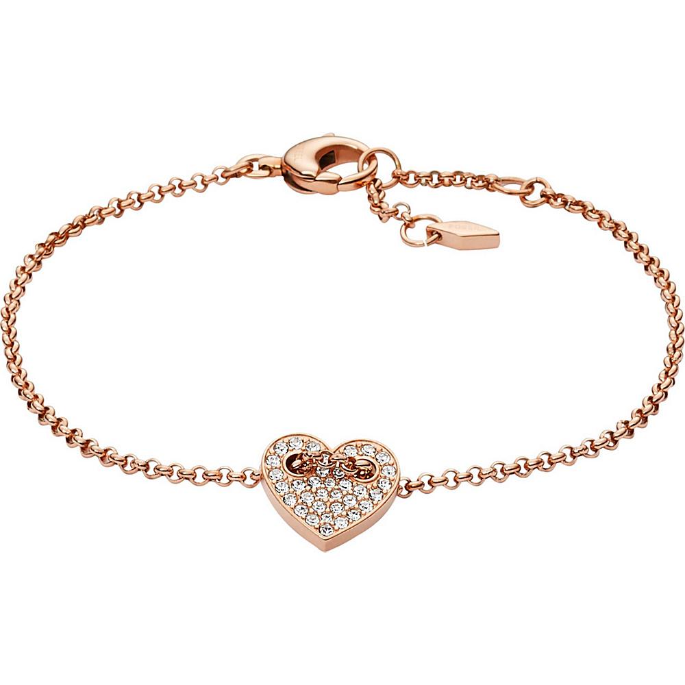 Fossil Glitz Heart Bracelet Rose Gold - Fossil Other Fashion Accessories - Fashion Accessories, Other Fashion Accessories