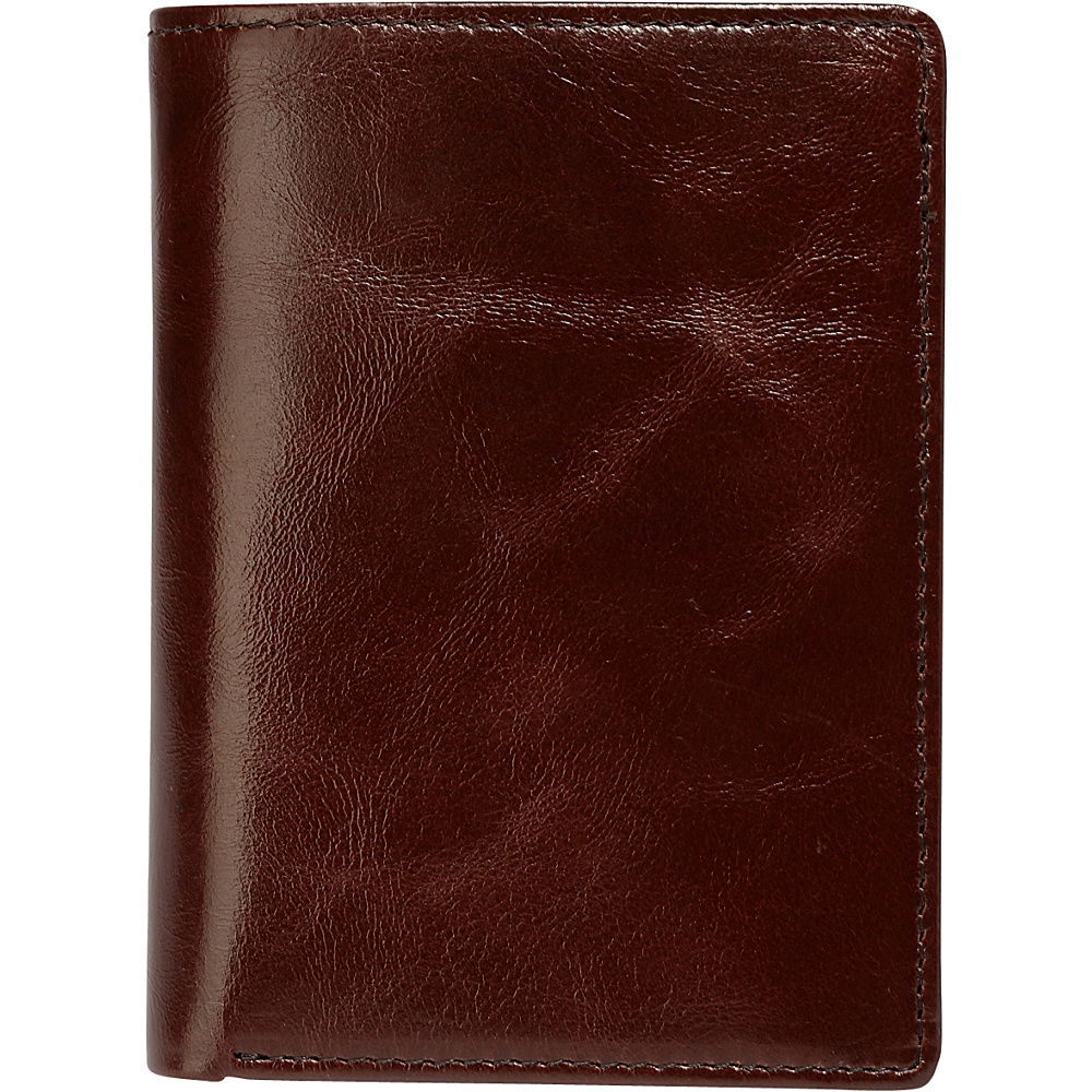 Vicenzo Leather Marco Distressed Trifold Leather Wallet Brown Vicenzo Leather Men s Wallets