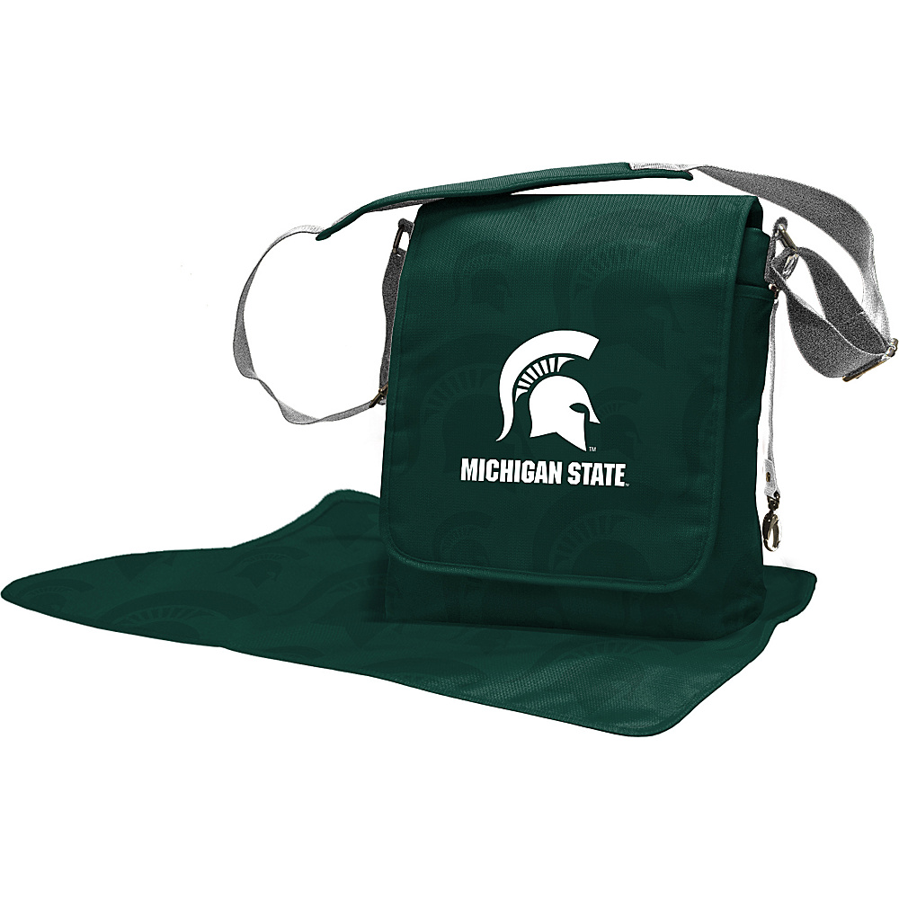 Lil Fan Big 10 Teams Messenger Bag Michigan State University Lil Fan Diaper Bags Accessories