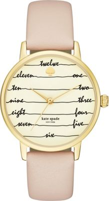 kate spade watches Leather Metro Watch Brown - kate spade watches Watches