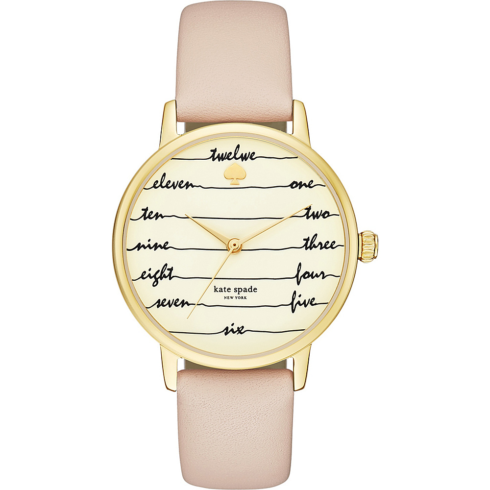 kate spade watches Leather Metro Watch Brown kate spade watches Watches