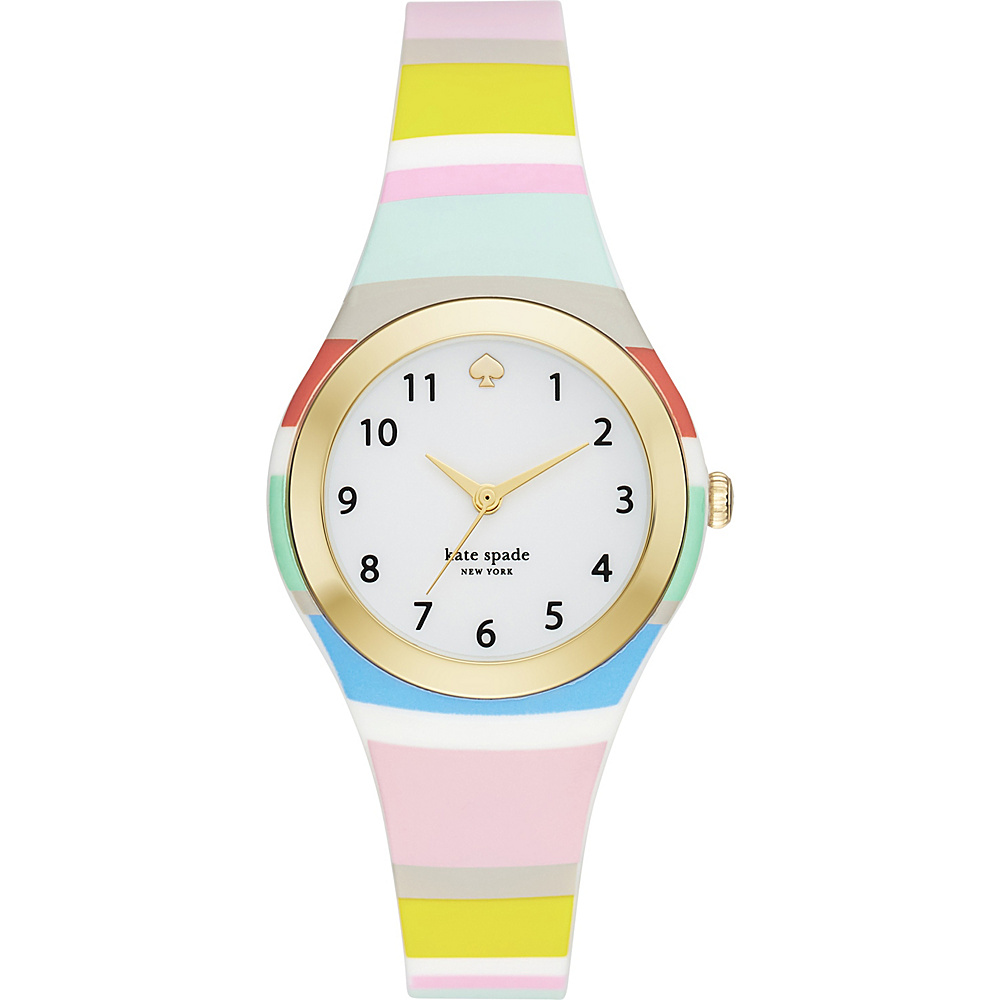 kate spade watches Silicone Rumsey Watch Striped Pink kate spade watches Watches