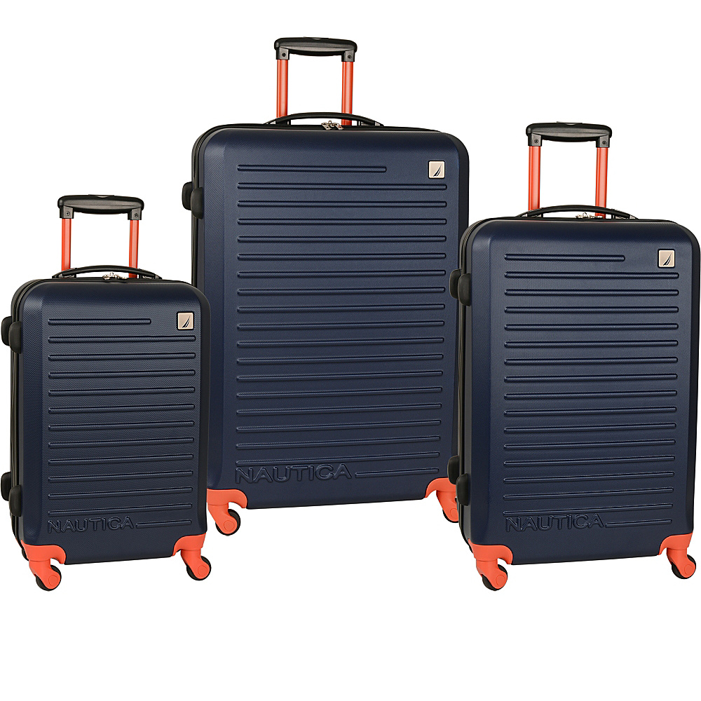 Nautica Tide Beach 3 Piece Hardside Set Classic Navy - Nautica Luggage Sets