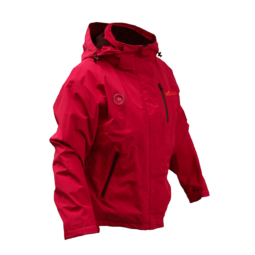 My Core Control Womens Heated Ski Jacket L Red My Core Control Women s Apparel