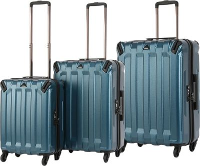 Triforce Ranger Collection Hardside 3-piece Spinner Luggage Set Teal - Triforce Luggage Sets