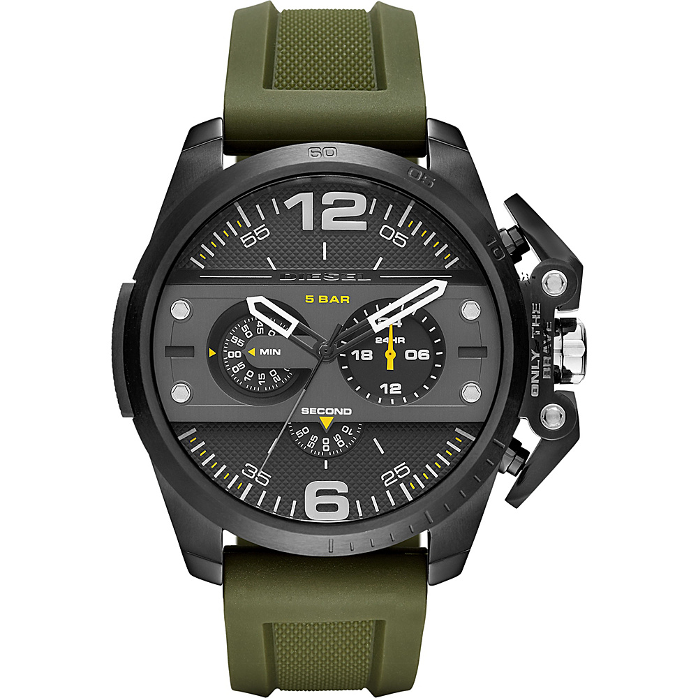 Diesel Watches Ironside Chronograph Silicone Watch Green - Diesel Watches Watches