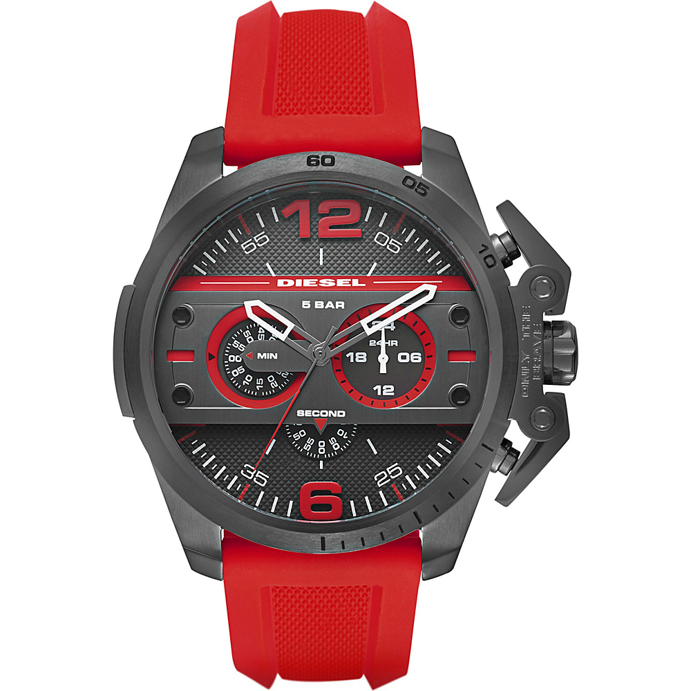 Diesel Watches Ironside Chronograph Silicone Watch Red - Diesel Watches Watches