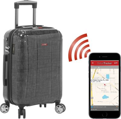 Planet Traveler USA USA Smart Tech Case 23 inch Check In Silver - Planet Traveler USA Hardside Checked