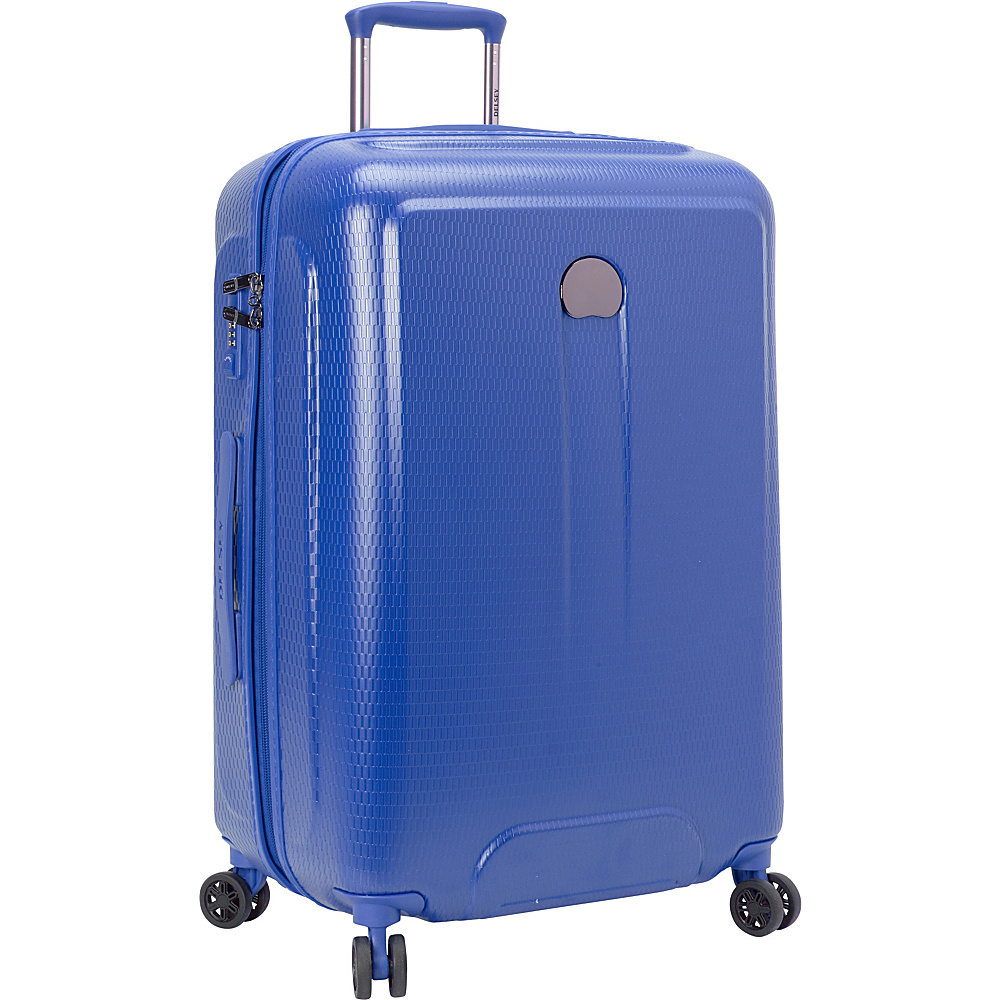 Delsey Embleme 25 Spinner Trolley Royal Blue Delsey Hardside Checked