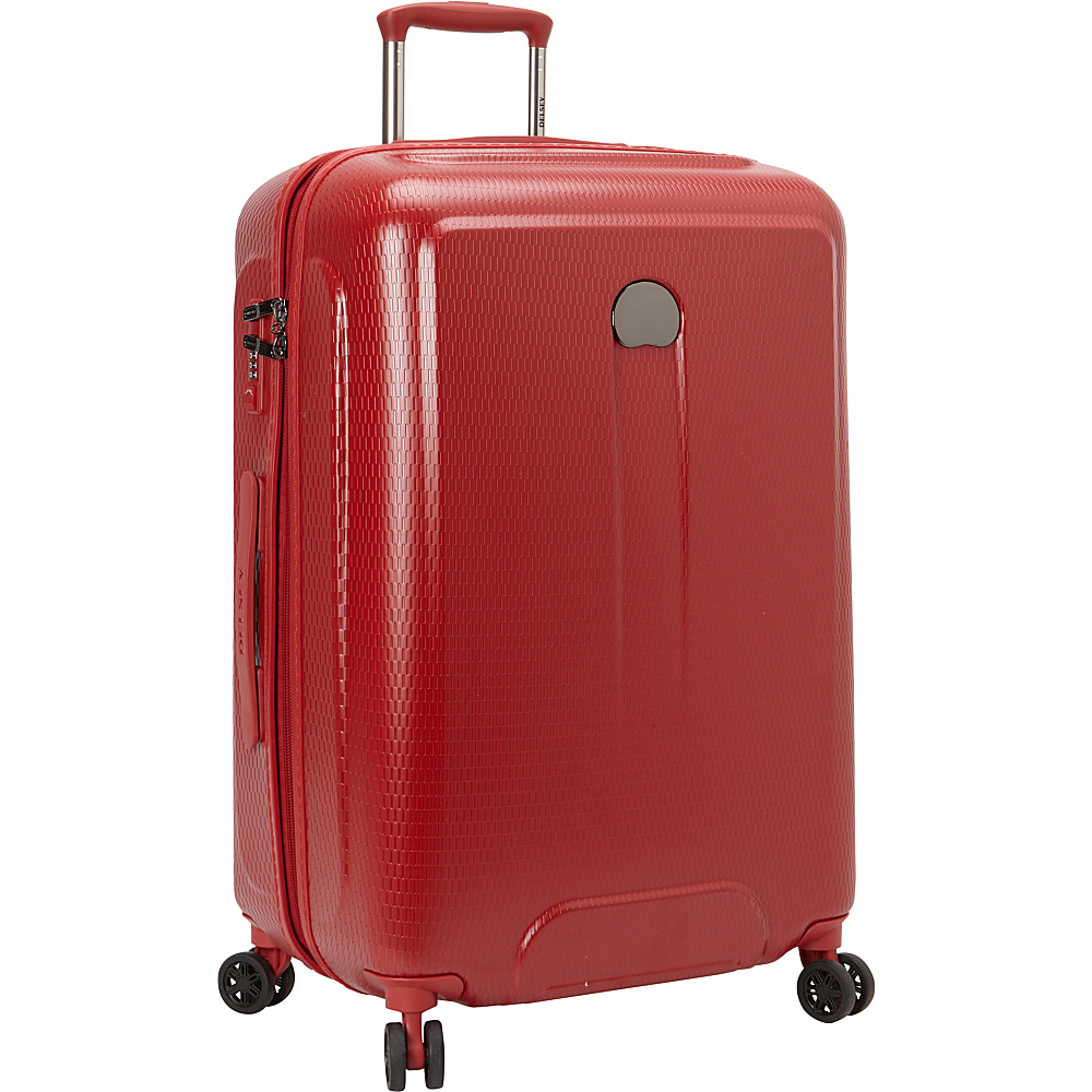 Delsey Embleme 25 Spinner Trolley Red Delsey Hardside Checked
