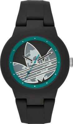 Image of adidas originals Watches Aberdeen Three Hand Silicone Watch Black - adidas originals Watches Watches
