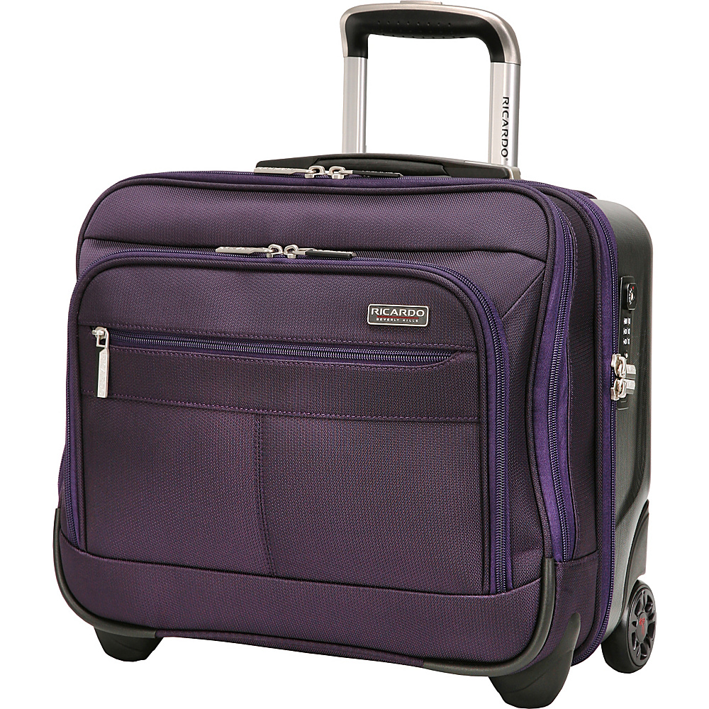 Ricardo Beverly Hills Mulholland Drive 16-Inch 2 Wheel Tote Aubergine Purple - Ricardo Beverly Hills Luggage Totes and Satchels