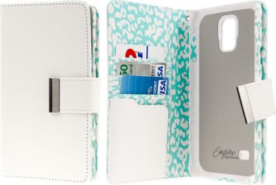 EMPIRE KLIX Klutch Designer Wallet Case Samsung Galaxy Note 4 Mint Leopard - EMPIRE Electronic Cases