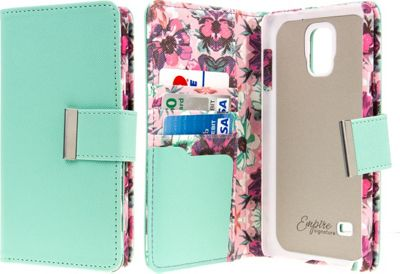 EMPIRE KLIX Klutch Designer Wallet Case Samsung Galaxy Note 4 Vintage Pink Flower - EMPIRE Electronic Cases