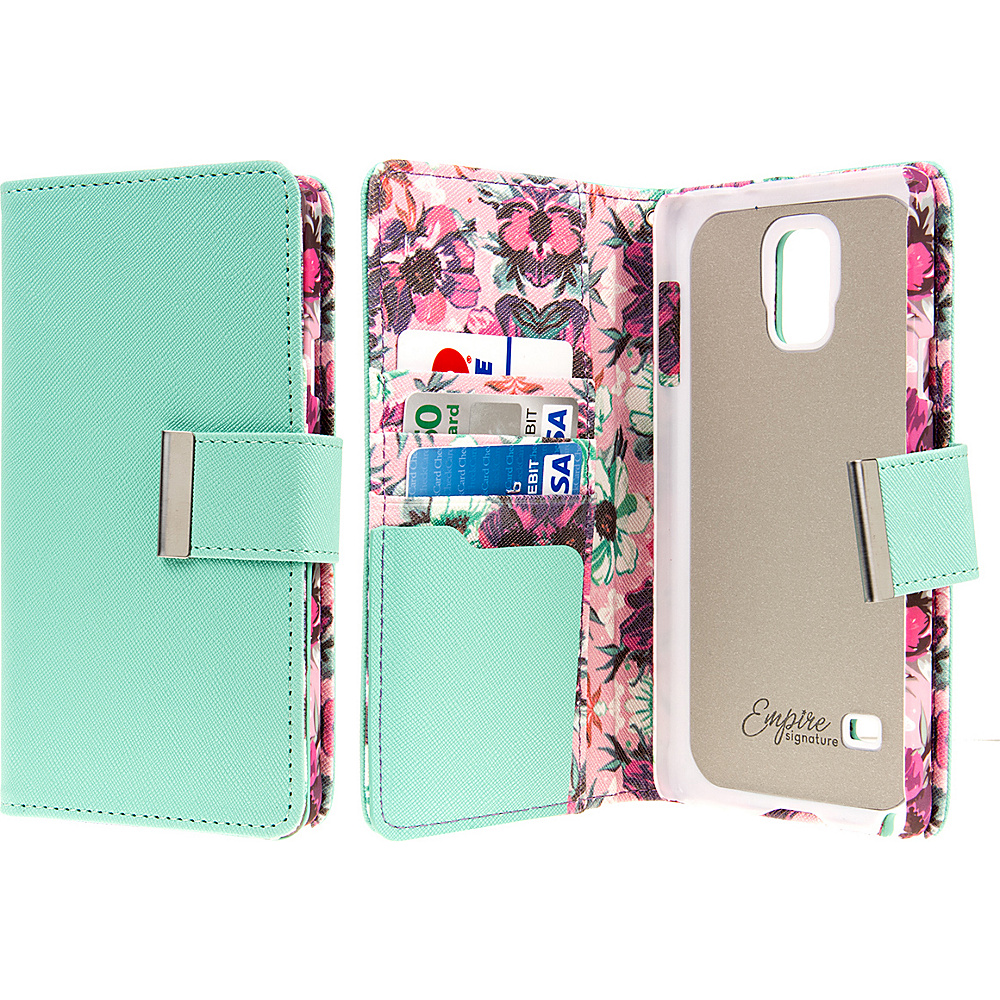 EMPIRE KLIX Klutch Designer Wallet Case Samsung Galaxy Note 4 Vintage Pink Flower EMPIRE Electronic Cases
