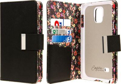 EMPIRE KLIX Klutch Designer Wallet Case Samsung Galaxy Note 4 Vintage Floral - EMPIRE Electronic Cases